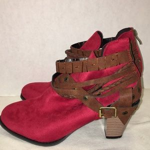 Shoes - Red dress boot , size 42( US 10) never worn